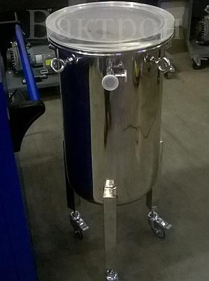 Вертикальная вакуумная камера с прозрачной крышкой для среднего и низкого вакуума