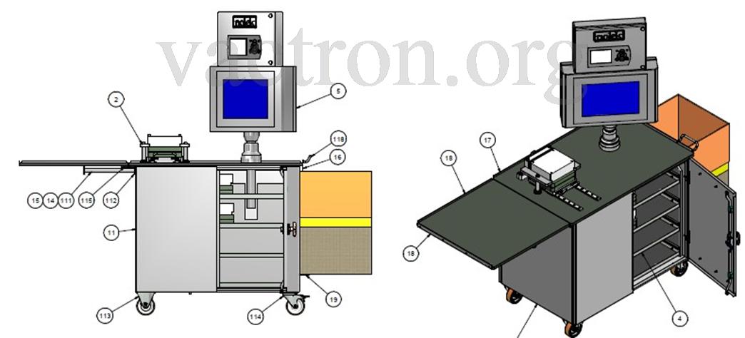 Установка для контроля герметичности блистеров