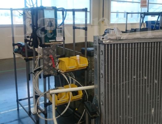 Установка контроля герметичности радиаторов на автомобильном производстве