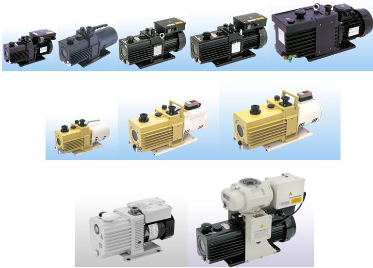 Двухступенчатые пластинчато-роторные насосы с масляным уплотнением  серия GHD-GLD-GCD